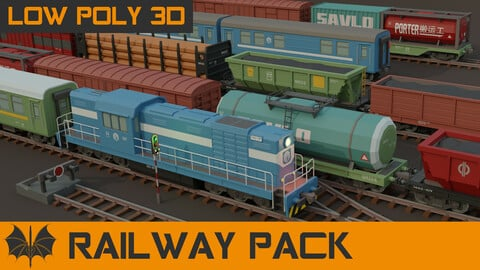 Low Poly Railway Pack
