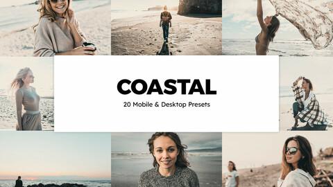 20 Coastal LUTs and Lightroom Presets