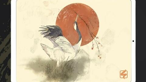 Asian ink Procreate brush