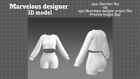 Clothes set for women - 3D model