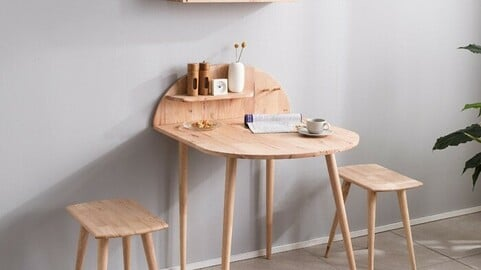 Lena Solid Wood Table Set for 2