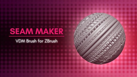 [VDM Brush] Sewing Stitches and Seams VDM Brush for ZBrush 2021