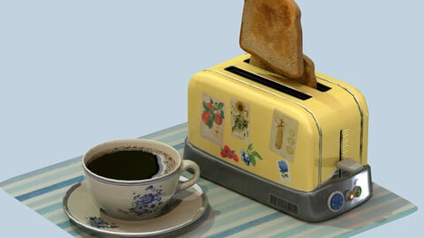 coffee and toasts