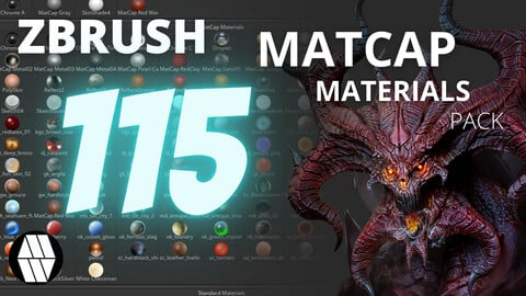 FREE ZBrush Matcap Materials