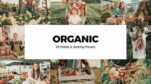 20 Organic LUTs and Lightroom Presets