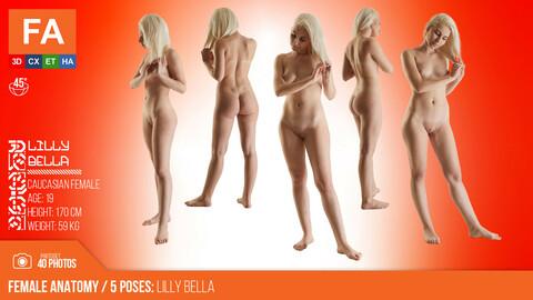 Female Anatomy | Lilly Bella 5 Various Poses | 40 Photos