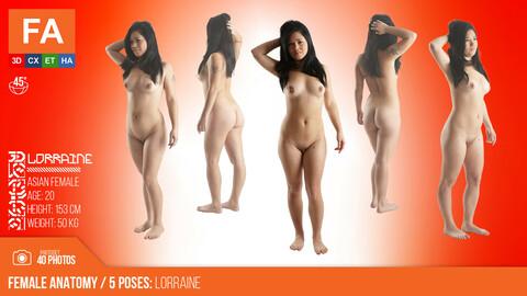Female Anatomy | Lorraine 5 Various Poses | 40 Photos