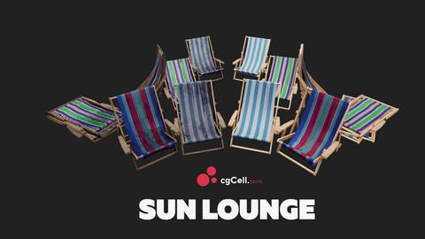 Sun lounger VR / AR / low-poly 3d model / 4k Textures