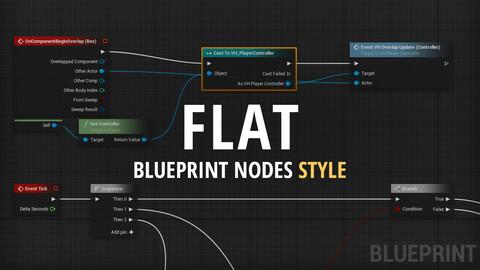 Flat Blueprint Nodes Style