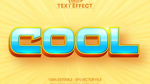 Cool text, cartoon style editable text effect