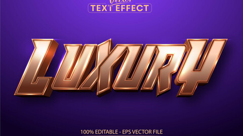 Luxury text, rose gold color style editable text effect