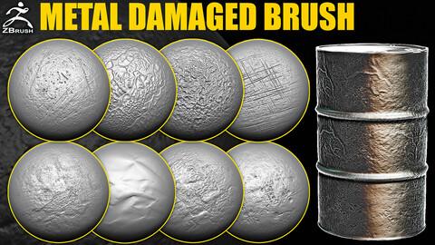 Metal Damaged Brush for ZBrush