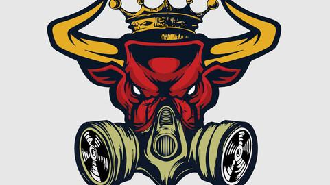 This Is Bull Mask Logo Art