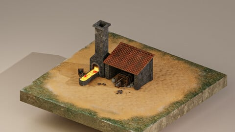Iron Mine Level 10 3D Model