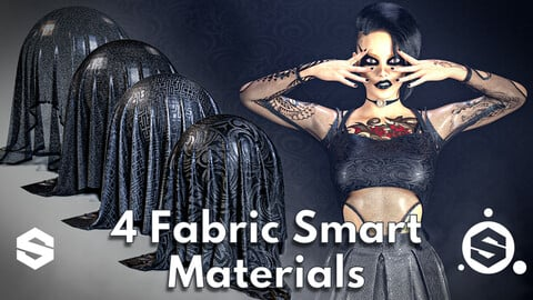 4 Fabric smart material : Gothic outfit