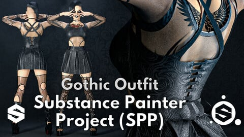 Substance Painter (.SPP) : Gothic outfit