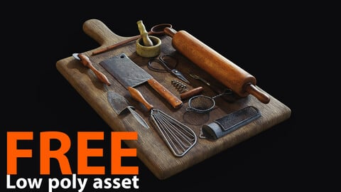 Props Pack - Low poly asset - Substance Painter
