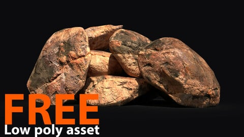 Rocks Pack - Low poly asset - Substance Painter