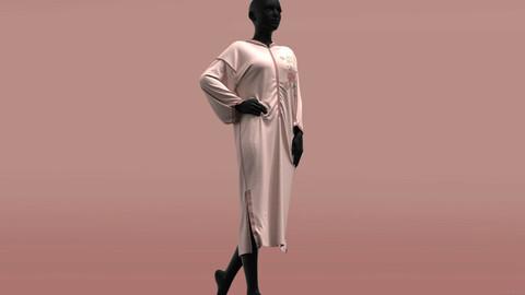 Morrocan Jellaba Chic . Clo3D , Marvelous Designer