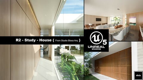 Realistic House Project Pack 02 ( UE5 ) and ( UE4 ) Files