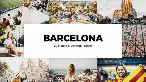 20 Barcelona LUTs and Lightroom Presets