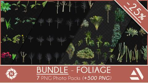 Bundle Foliage +500 PNG Cutouts