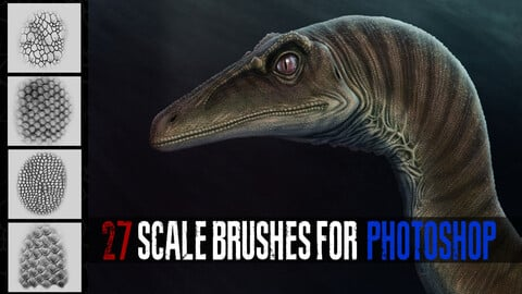 27 scale brushes for photoshop.