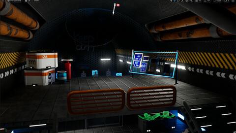 Game Ready Fire room Scene