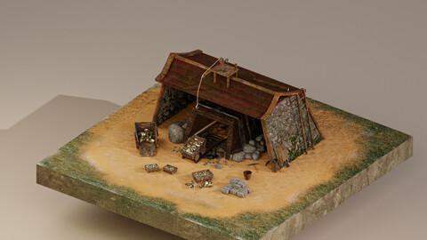 Gold Mine Level 10 3D Model