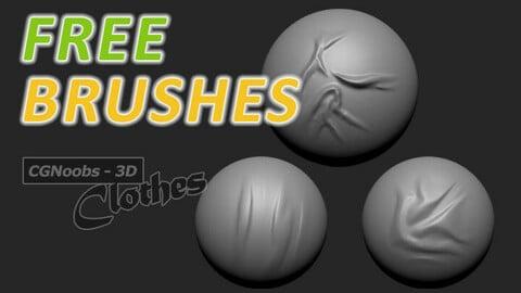FREE ZBrush Wrinkles Brushes