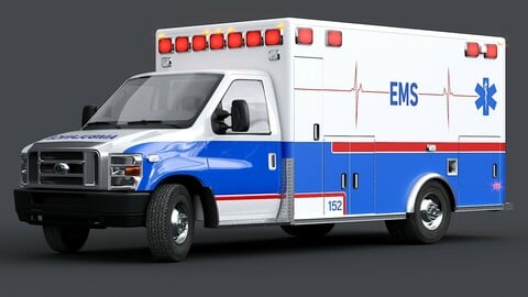 Ford E-Series Ambulance with Interior