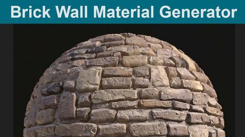 Brick Wall Material Generator