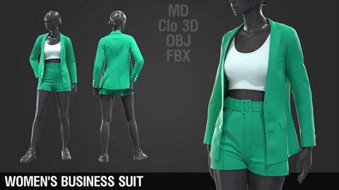 Women's business suit / Marvelous Designer / Clo 3D project + obj + fbx