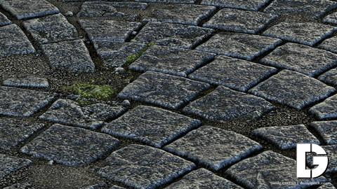 Cobblestone Material - Substance Designer