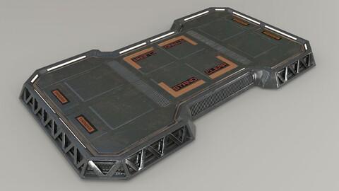 Sci-Fi Landing Pad Low-Poly