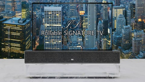 VRChat Rollable SIGNATURE TV,Remote control,Shelf SET