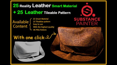 25 Reality Leather Smart Material + 25 Leather Pattern Imperfection - VOL 01