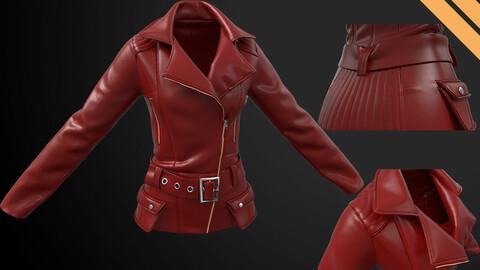 Ladies Biker Jacket in Marvelous Designer