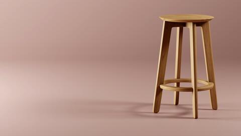 Bar Stool - 1.3 Stool By Zeitraum - Replica 3D model