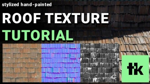 Roof Tile Texture - Complete Workflow From 3D Modeling to Photoshop
