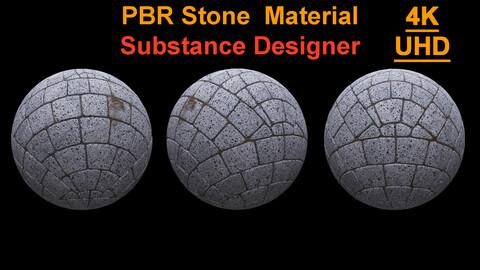 PBR Stone Material / Substance Designer