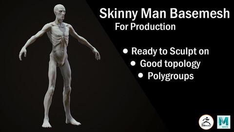 Skinny Man Basemesh for production