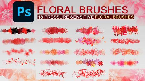 Floral photoshop brush set