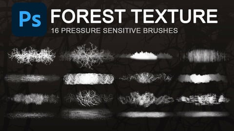 Forest texture photoshop brushes