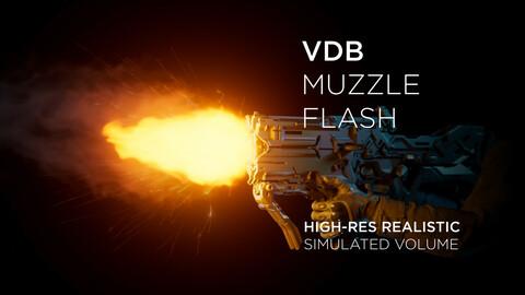 VDB 3D Muzzle flash