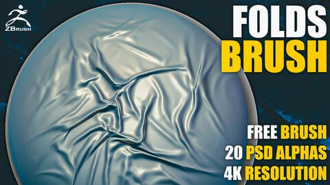 Folds Brush for ZBrush