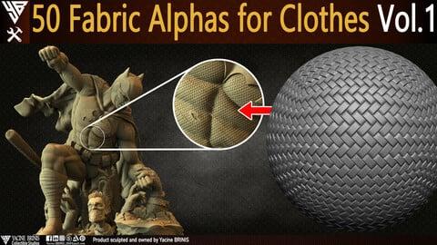 50 Fabric Alphas for Clothes Vol 01