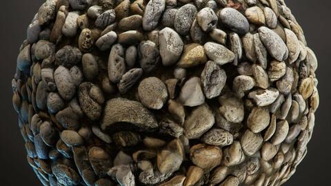 PBR - PEBBLE SOIL, ROCKS, RIVER, ROLLING, STONES - 4K MATERIAL