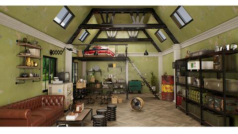 Loft Interior Scene