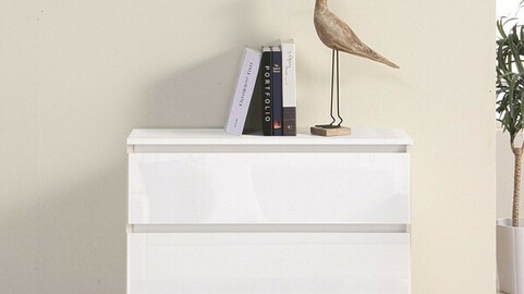 Classy High Glossy 800 2-tier chest of drawers